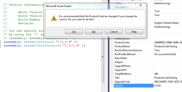 """Visual Studio Installer Projects and """"Previous Versions"""