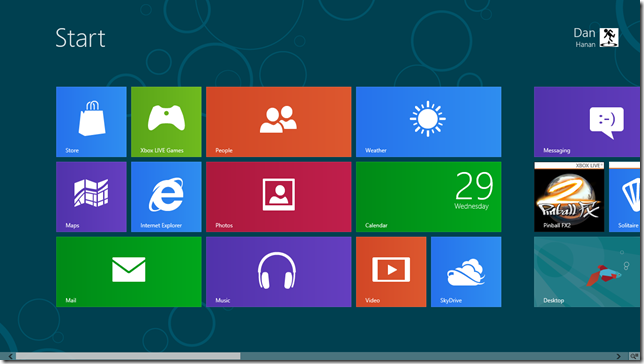 Tablet Win8 CP - Start Screen
