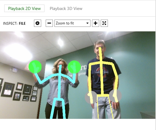Kinect Recording - 2 faces